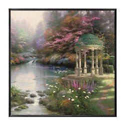 Thomas Kinkade The Garden of Prayer 36 x 36 Framed Wall Mural $399.00