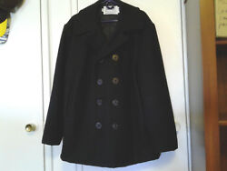 Barely Used Schott 740N 10 Button Double Breasted Wool Pea Coat Size 46