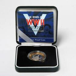 ROYAL MINT END OF WWII 60TH ANNIVERSARY 2  POUND SILVER PROOF COIN $50.00
