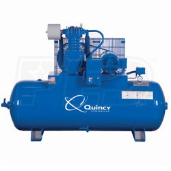 Quincy QP MAX 10-HP 120-Gallon Pressure Lubricated Two-Stage Air Compressor (... $5,534.99