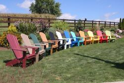 A&L Furniture Co. Amish-Made Poly Fanback Adirondack Chairs - 13 Color Options