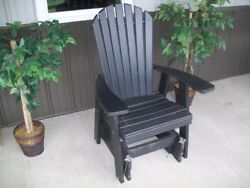 A&L Furniture Co. Amish-Made Poly Adirondack Gliding Chairs - In 13 Colors