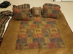 Log Cabin Theme Outdoors Down comforter - pillowsbed skirt Has new tags 88x90