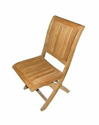 ATC Alice Teak Outdoor Folding Chair (Pack of 2) NO TAX