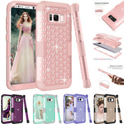 Shockproof Shine Hybrid Hard Case F Samsung Galaxy S8S8 Plus Rubber Phone Cover