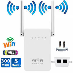 300Mbps Wireless-N Range Extender WiFi Repeater Signal Booster Network Router $16.50