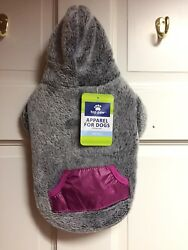 NWT SIZE SMALL SUPER SOFT GREY HOODIE SWEATSHIRT FOR SMALL DOG BREEDS $29.99
