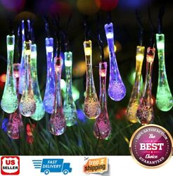 Outdoor Solar Powered 30 LED String Light Garden Patio Yard Landscape Lamp Party $12.98