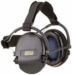 MSA 10082166 Supreme Pro-X Earmuff with Black Neckband Black Cups