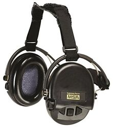 MSA Safety 10149445 Supreme Pro-X Earmuff with Black Neckband Black Cups with G