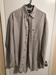 FACONNABLE Men's Classy long sleeve button down size L $12.99
