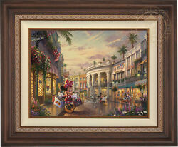 Thomas Kinkade Disney Minnie Rocks the Dots on Rodeo Drive 18 x 24 LE EE Canvas