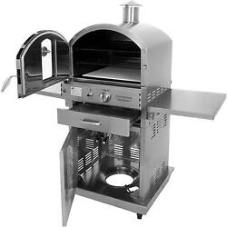 Pacific Living Outdoor Pizza Oven w Cart Propane PL8430SS Stainless Steel