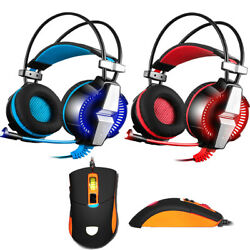 EACH GS700 Stereo Bass Surround Gaming Headset for PS4 New Xbox One PC with Mic