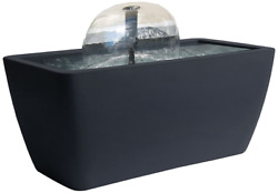 Algreen Manhattan Contemporary Slate Patio and Deck Pond Water Feature Kit with