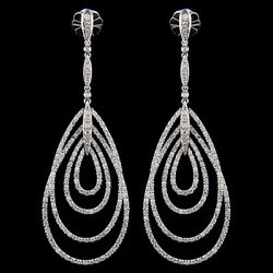 18k White Gold Chandelier Diamond Earring