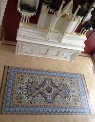 Beautiful Persian Tile Rug Mural Hand Painted Kiln Fired. 5.5ft x 11ft
