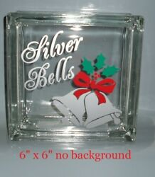 Silver Bells Christmas Decal Sticker for 8