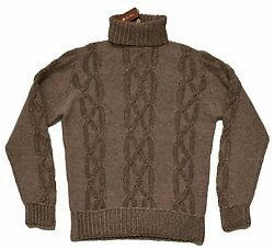 LORO PIANA 100% Baby Cashmere Cable-knit Sweater 50 IT MED ITALY $2395