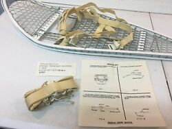 NEW Magline Snowshoes GI Military Army Magnesium White w Bindings Made in USA $99.99