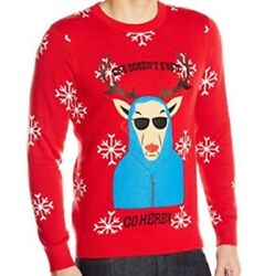 Alex Stevens Men's She Doesn't Even Go Here Ugly Christmas Sweater NEW FREE SHIP