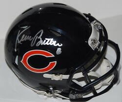 KEVIN BUTLER signed (CHICAGO BEARS) SPEED autographed mini football helmet WCOA