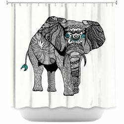 Dianoche Designs Shower Curtain Soft Woven One Tribal Elephant- Made In USA