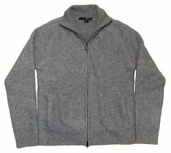 Polo Ralph Lauren RLX Mens Cashmere Half Zip Cardigan Sweater Grey Gray Small