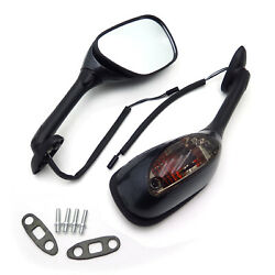 Integrated Turn Signal Side View LED Mirrors for 2006-2015 Suzuki GSXR 750  GSX
