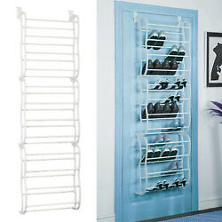 Over The Door Shoe Rack For 36 Pair Wall Hanging Closet Organizer  Space Saving $21.59
