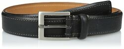 Tommy Bahama Mens Italian Leather Contrast Stitch BeltBlack36