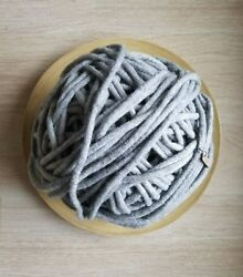 Big xxl green handmade felted wool yarn. Great for chunky knitting projects.