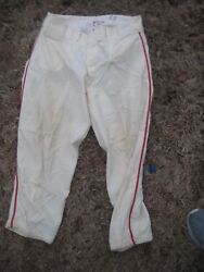 1957 St Louis Cardinals Bill Posedell Game Worn Used Home Flannel Wool Pants