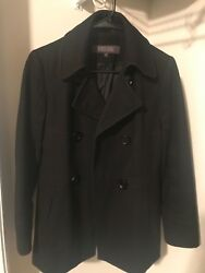Womens Kenneth Cole Reaction wool coat black used size: 8P