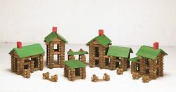 Tumble Tree Timbers Wood Building Set  450 Pieces. Build Log Cabins. Educ... New