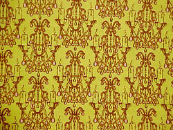Cotton Fabric CHANDELIER DROPLET Fortiny retro candelabra gothic print Yard $11.96