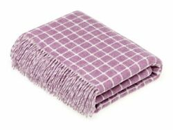 Athens Check - Merino Lambswool Throw - Lilac