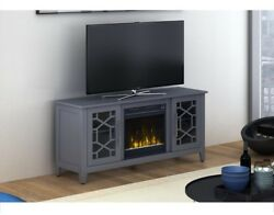 CLASSIC FLAME Clarion 54 in. Media Console Electric Fireplace Heater Cool Gray