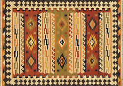 7'x9' Loloi Rug Isara Wool Multi Color Flat Weave Traditional Design