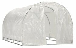Greenhouse-Weatherguard Walk In Arched Top Garden Hot House Fully Enclosed - for