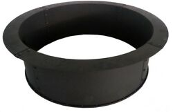34 in. Solid Steel Fire Pit Ring Firepit Black Wood Burning Large Capacity New