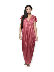 Satin Sleepwear Dress Babydoll Women One Size Night Wear Top Dress Maxi For Gift $16.99