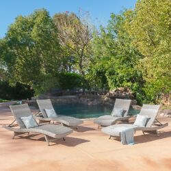 Isle Of Palms Outdoor Gray Wicker Chaise Lounge