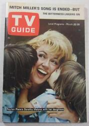 TV GUIDE MAR 1965 DOROTHY MALONE PEYTON PLACE ANNE BANCROFT CHARLES LANE