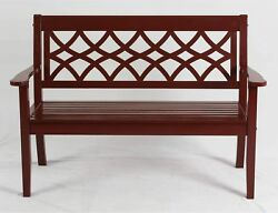 BETTER HOMES AND GARDENS 4 Bench Dark Red Patio Porch Outdoor Chair Furniture