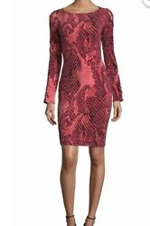 Project Runway Long Sleeves Snake Prints Dress Size Small NWOT