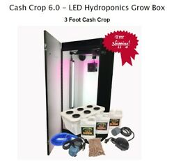 Hydroponics Grow Indoor System Kit Box Plant LED Grow Light Water Farm US Made