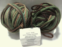 Jade Sapphire 100% Mongolian CASHMERE Yarn 2 Skeins 12 Ply Bulky Forest Glen #5