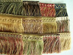 BY THE YARD Beautiful 3 1 2quot; Cut Brush Fringe Trim CHOICE of COLORS $2.79