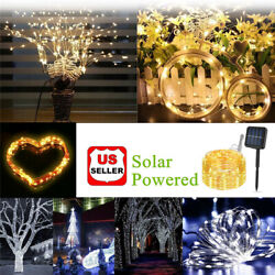 Solar LED String Lights 100 Copper Wire 33ft Waterproof Outdoor Fairy LED Decor $23.98